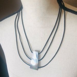 Gorgeous Mother of Pearl Triple Strand Necklace